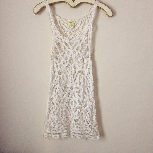 Free People Swim Intimately Crochet Lace Cover Up Dress Poshmark